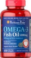 Puritan's Pride Omega 3 (1200 mg) 100 софтгель