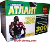 Атлант 80% Протеины Атлант 3 кг  +50г креатин