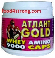 Атлант Атлант Whey amino 9000  350 таб
