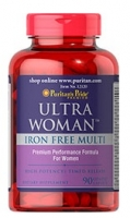 Puritan's Pride Ultra Woman Iron Free Multi 90 Caplets
