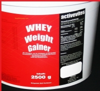 Activevites Whey weight gainer 2500 грамм