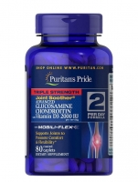 Puritan's Pride Glucosamine Chondroitin with Vitamin D3 80 каплет