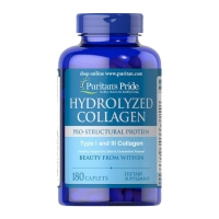 Puritan's Pride Hydrolyzed Collagen 1000 мг 180 каплет