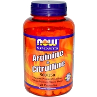 NOW Arginine and Citrulline 100 капсул