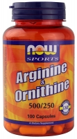 Now Sports Arginine & Ornithine 100 капс