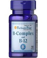 Puritan's Pride B-complex and B12 90 таблеток