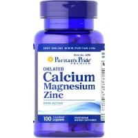 Puritans Pride Calcium Magnesium Zinc 100 каплет