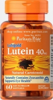 Puritans Pride Lutein 40 Mg With Zeaxanthin 60 капсул