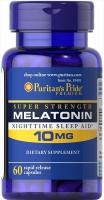 Puritan's Pride Melatonin 10 мг 60 капс США