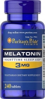 Puritans Pride Melatonin 3 мг 240 капс США