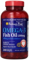 Puritan's Pride Omega 3 1200 mg 200 softgel