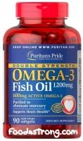 Puritan's Pride Omega-3 Fish Oil (1200 mg/600 mg) 90 Softgels