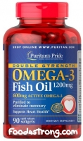 Puritan's Pride Omega-3 Fish Oil (1200 mg/600 mg) 90 Softgels