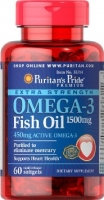 Puritan's Pride Omega-3 Fish Oil Coated 1500 mg 60 softgels