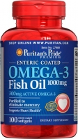 Puritan's Pride Omega-3 (Fish Oil Coated 1000 mg) 100 softgel