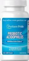 Puritans Pride Probiotic Acidophilus 100 капсул