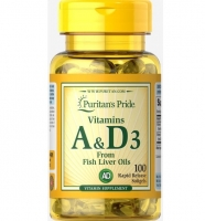 Puritan's Pride Vitamins A & D 5000/400 IU 100 софтгель