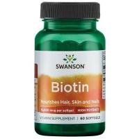 Swanson Biotin 10.000 мкг 60 софтгель