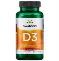 Swanson D3 250 капсул