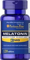 Puritan's Pride Melatonin 120 капс (3 мг)
