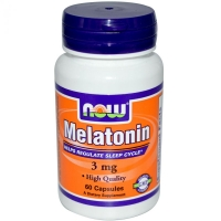 NOW MELATONIN 3mg 60 капс