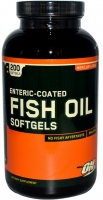 Омега Optimum Nutrition Enteric Coated Fish Oil 200 софтгель